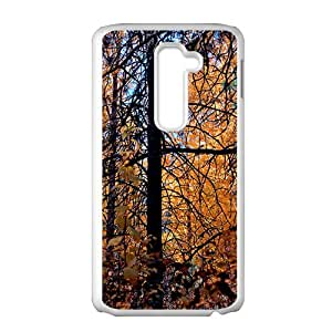 Autumn Forest White Phone Case for LG G2