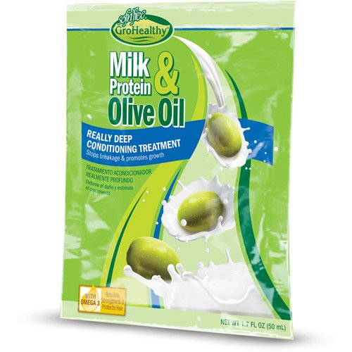 4 Olive Oil - Sofn'Free Milk Protein & Olive Oil Deep Conditioning Treatment (1.7oz) Pack Of 4
