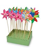 Flower Windmill Display Set of 24