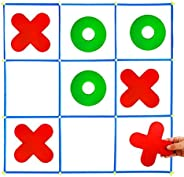 Giant Tic Tac Toe Game, Large Indoor Outdoor Toss Activity, Family Yard Games for Adults and Kids, Noughts and Crosses Brain