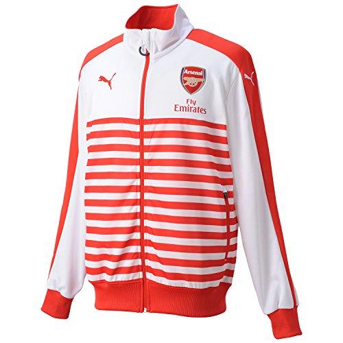 2014-2015 Arsenal Puma T7 Anthem Jacket (Red-White)