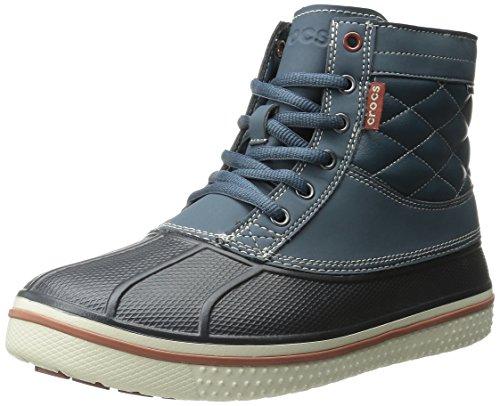 crocs Men's Allcast Waterproof Duck M Snow Boot, Nightfall/Stucco, 7 M US