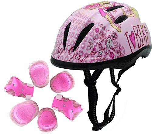 Cheap BeBeFun Pink Girl Toddler and Kids Multi-Sport Bike super lightweight Helmet (Bike Girl&Pads)