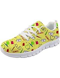 Women s Road Running Shoes Nurse Pattern Lightweight Sport Sneakers b16751664