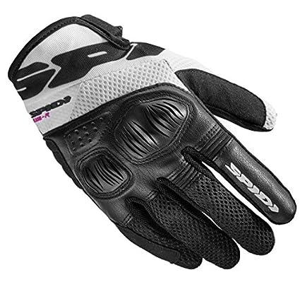 SPIDI Guanto Motociclistico Protettivo Certificato Flash-R Evo Lady, Nero/Bianco, Taglia M Spidi Sport B86-011- M