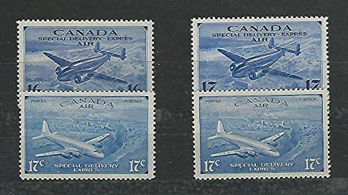 Canada, Postage Stamp, CE1-CE4 Mint NH, 1942-46 Airmail, JFZ