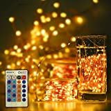 String-Light, Copper 300LED Wire-Lights Waterproof Fairy Starry 100 Feet DC 12V for Party, Indoor Light Warm White (warm)
