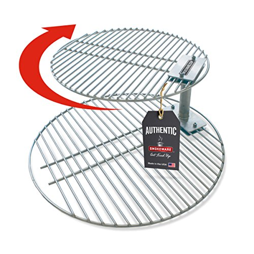 SMOKEWARE Stacker & Grill Grate Combo (Top Grate and Stacker Only) - Compatible with Xtra Large Big Green Eggs, Stainless Steel Grill Accessories