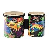Remo Kid's Percussion, Bongos, 5/6 Diameters, Rain Forest Fabric