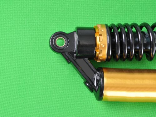 Wotefusi Motorcycle New One Piece Black Golden 12 5/8'' 320mm Round Ends Air Gas Shock Absorbers Replacement Universal Fit For Honda Suzuki Kawasaki Yamaha Ducati Scooter ATV Quad Dirt Sport Bike Go Kart