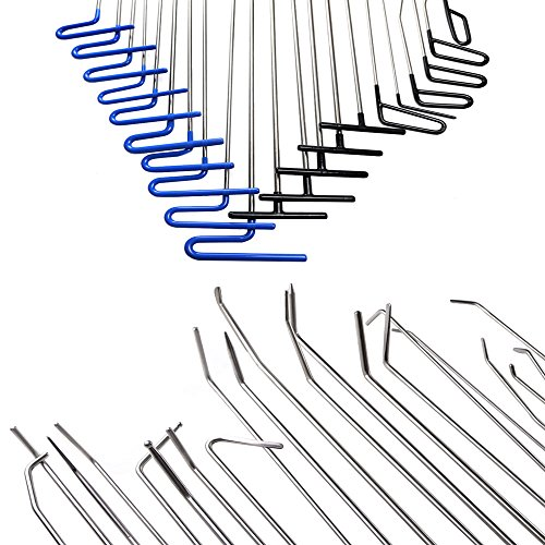 WHDZ Paintless Dent Repair Rods 16pcs Auto Body Dent Repair Hail Damage Removal Tools Paintless Dent Repair Rods Tool for Car Dent Ding Removal by WHDZ (Image #2)