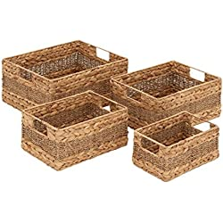 "Deco 79 48969 Sea grass Basket (Set of 4), 16""/14""/12""/10""W"