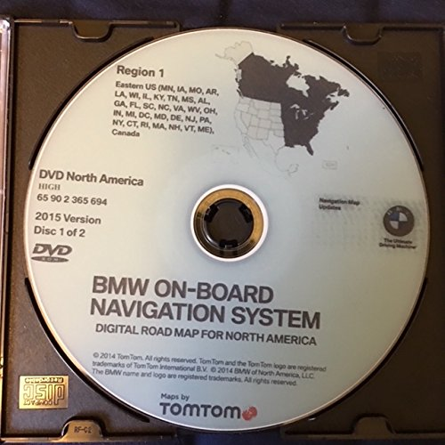 Bmw Navigation System (2015 BMW NAVIGATION UPDATE DVD EAST&WEST HIGH VERSION)