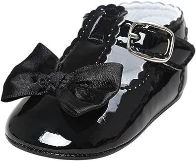 Meckior Infant Baby Girls Soft Sole Sparkly Floral Princess Mary Jane Shoes Newborn Prewalker Wedding Dress Flats Toddler Sneaker
