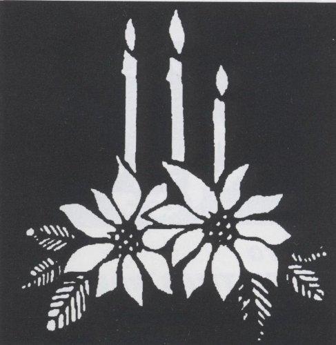 Morris Costumes - Poinsettia Brass Stencil - Standard ()