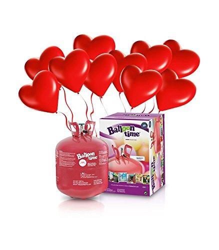 ElioParty - Kit Elio LARGE + 30 palloncini rossi cuore - Ø 25 cm