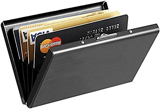 Credit ID Card Wallet Holder Slim Travel Business Money Stainless RFID Blocking