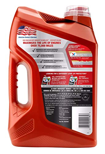 Valvoline High Mileage with MaxLife Technology SAE 5W-30 Synthetic Blend Motor Oil 5 QT (881163)