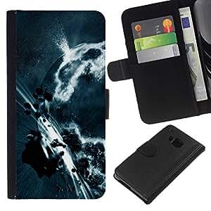 All Phone Most Case / Oferta Especial Cáscara Funda de cuero Monedero Cubierta de proteccion Caso / Wallet Case for HTC One M7 // Space Planet Galaxy Stars 3