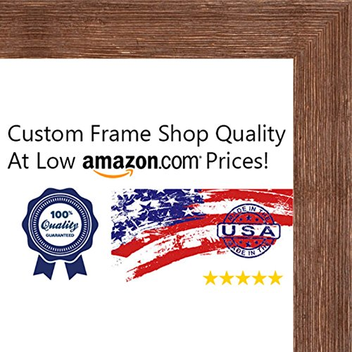 11x14 Distressed/Aged Color Wood Picture Frame - UV Acrylic, Foam Board Backing, & Hanging Hardware Included!