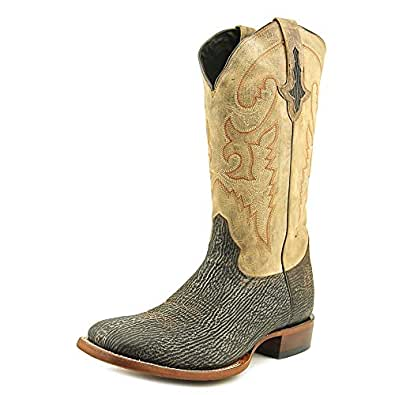 Lucchese Men's 1883 Horseman Sanded Shark Cowboy Boot Square Toe Chocolate 8.5 D(M) US