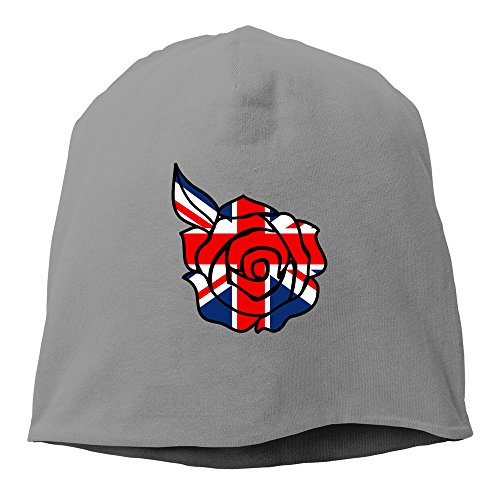 (Union Jack Rose Cool Hedging Hat Beanies Cap DeepHeather)