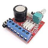 DROK Ultra Small Hi-Fi 10W+10W Dual Digital Audio Amplify Board Stereo AMP DC7.5-15V 12V 8Ω 20mA 2 Channels PC Class-D