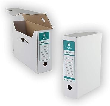 25 Cajas archivo definitivo folio sencillo: Amazon.es: Bricolaje y ...