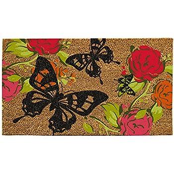 Evergreen Flag Butterflies Coir Doormat