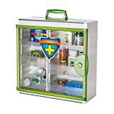 Glosen Wall Mounted and Portable Type 3 Layers Storage Container with Child Safety Lock Household Medicine Cabinet Green (Light Green)