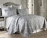 Levtex Home Hemingway Quilt Set, King, Grey