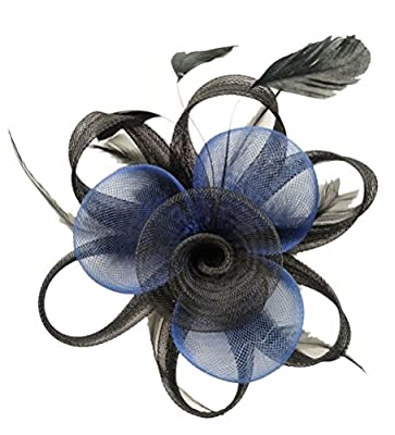 Fascinator Hair Clip Women Flower Feather Headband Pillbox Hat Tea Party