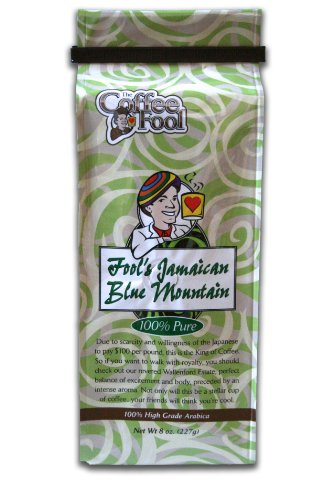 The Coffee Fool Fool's Jamaican Blue Mountain, Drip Grind, 8 Ounce (Tassimo Blue Mountain compare prices)