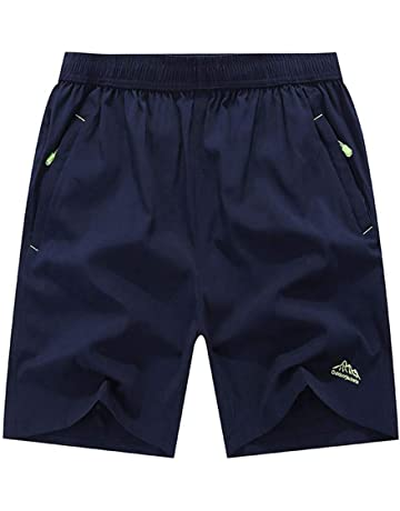 6505607e3d TBMPOY Men's Outdoor Sports Quick Dry Gym Running Shorts Zipper Pockets
