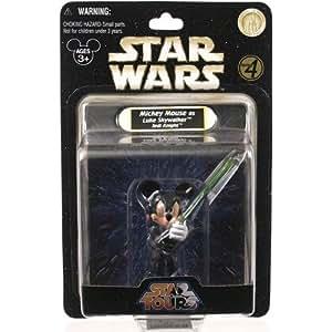 Disney Star Tours Star Wars Weekends Mickey Mouse as Luke Skywalker Jedi Knight figure