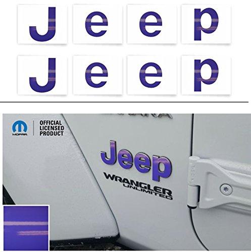 Reflective ConceptsJEEP Fender Emblem Overlay Decal Stickers - 2018 Wrangler JL - (Color: Purple)