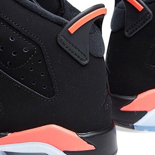 Nike Boys Air Jordan 6 Retro Bg Scarpe Da Basket In Pelle Scamosciata Ad Infrarossi Nero / Infrarosso 23