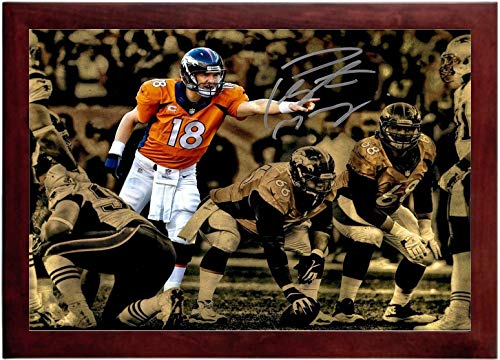 Payton Manning Autograph Replica Super Print - QB Spotlight - Landscape - Framed ()