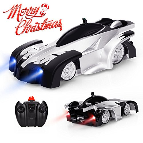 EpochAir Remote Control Car, Kid Toys for Boys Girls, Dual Mode 360°Rotating Stunt Wall Climbing Car with Remote Control, Head and Rear LED Lights, Intelligent Glowing USB Cable, Girl and Boy Gifts (Car Toys For Kids)