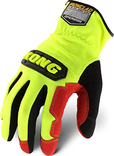 (Ironclad KONG KOPR-04-L Operator Oil & Gas Safety Gloves, Large, Yellow/Black)
