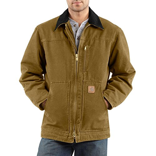 Carhartt Men's Ridge Sherpa Lined Coat - Large - Frontier Brown