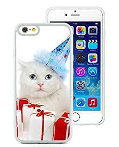 Custom Design iPhone 6 Case,Christmas Cat White iPhone 6 4.7 Inch Case 34