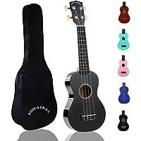 POMAIKAI Soprano Wood Ukulele Rainbow Starter Uke Hawaii kids Guitar 21 Inch with Gig Bag for kids Students and…
