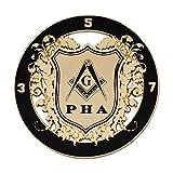 Prince Hall Round Black & Gold Masonic Auto