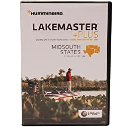 Humminbird Plus Mid South States Map Card