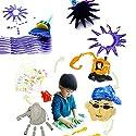 Homnrss クリエイティブDIYキッズスタンプお絵かきおもちゃ フラワーペイントブラシ 4点セット
