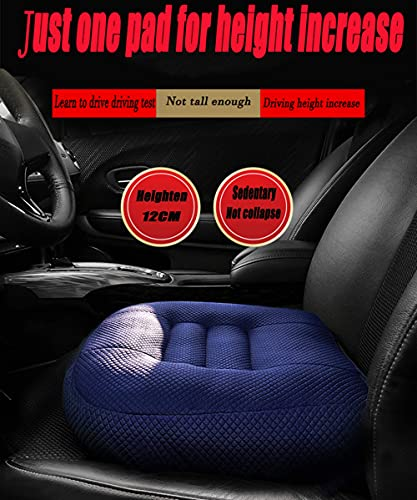 Car Booster Cushion Raise The Height for Short People Driving Hip (Tailbone) and Lower Cack Fatigue Relief Suitable for Trucks, Cars, SUVs, Office Chairs, Wheelchairs, Etc