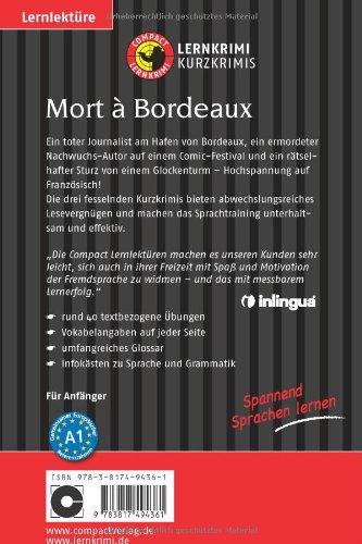 Mort à Bordeaux Französisch A1 Compact Lernkrimi Kurzkrimis