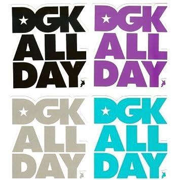 Dgk Aufkleber Skateboard Sticker All Day Purple Amazonde Sport