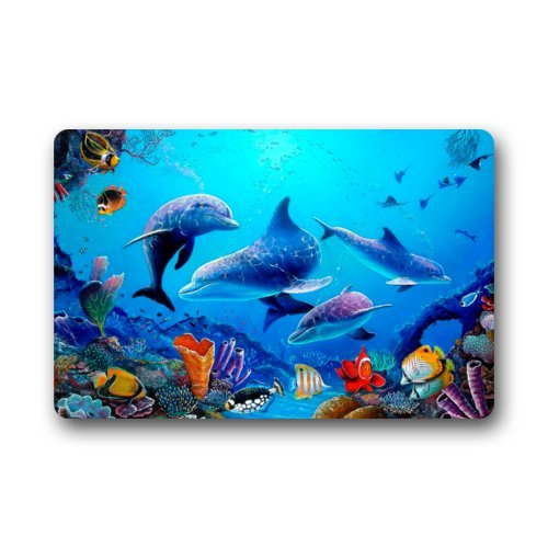Dolphin Doormats Kritters In The Mailbox Dolphin Doormat